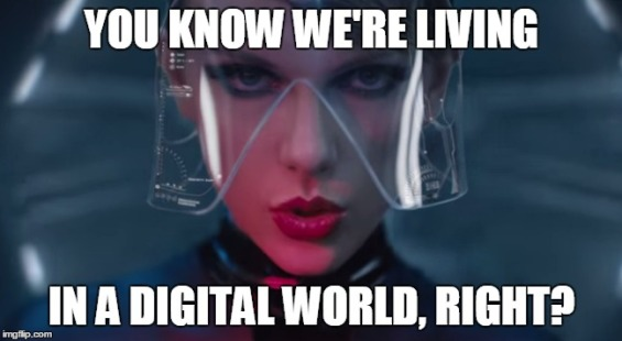 Taylor Swift Digital World meme