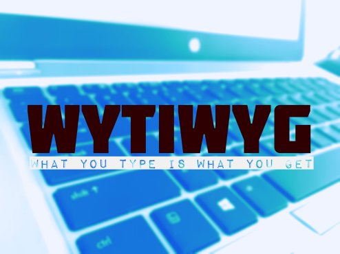 WYTIWYG Graphic