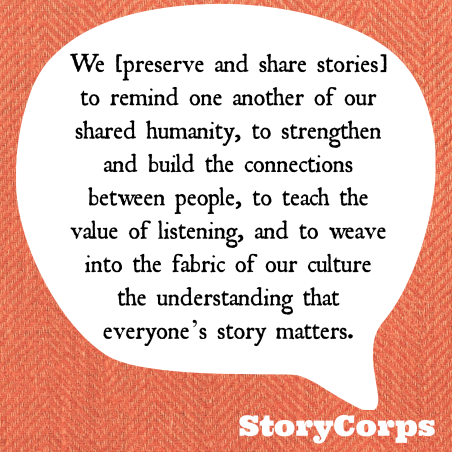 StoryCorps quote